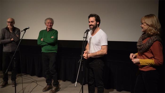 Jean Beaudin, Yves Beauchemin, Guillaume Lemay-Thivierge et Monique Spaziani discutent du film Le matou (1985)